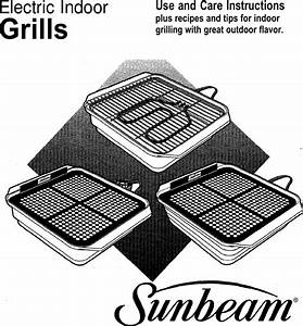 Sunbeam Electric Indoor Grills Users Manual