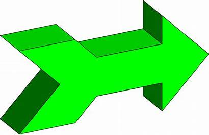 Right Arrow 3d Arrows Facing Pointing Clipart