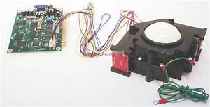 3in Arcade Trackball With Interface Harness For Jamma 60-in-1 Multigame Pcb
