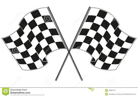 checkered flag racing stock vector image