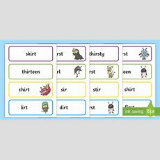 * New * Phase 5 'ir' Real And Nonsense Words Flashcards