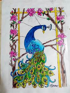 peacock glass painting by sourav04 on DeviantArt