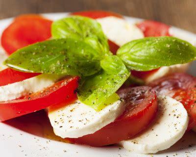 recette salade de tomates  la mozzarella