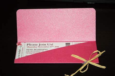 diy boarding pass invitations our wedding boarding