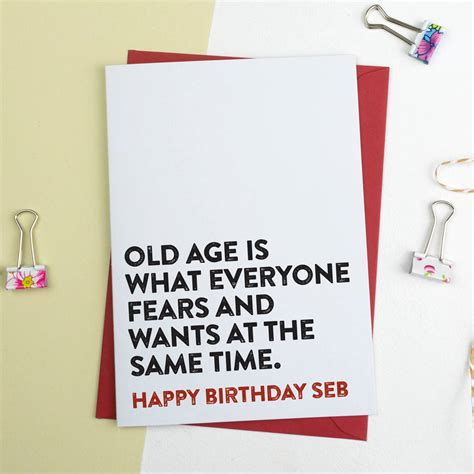 funny birthday card  age     alphabet
