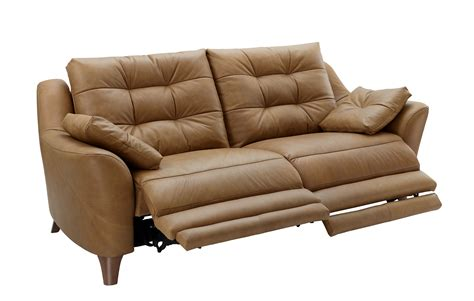 3 seater sofa with 2 recliner actions g plan pip leather 3 seater electric recliner sofa tr