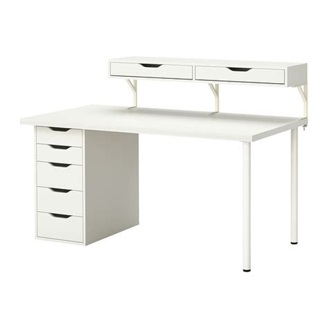 bureau ikea blanc bureau ikea ekby töre et plateau linnmon neuf 120 vendu