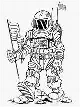 Astronaut Coloring Pages Colouring Nasa Realistic Template Titan sketch template
