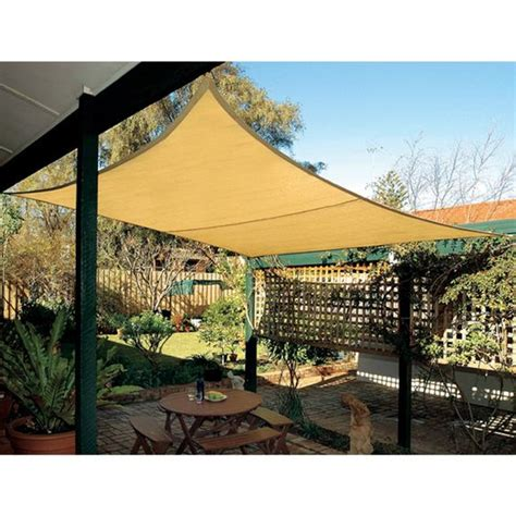 coolaroo square shade sail 17 9 inches