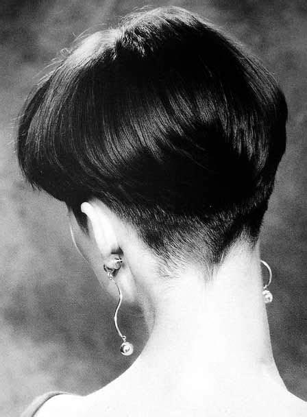 soft sleek wedge beautifully defined hairline short