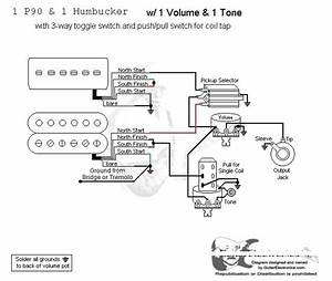 Wiring Diagram  P90    Hum    3way Toggle    Volume    Tone