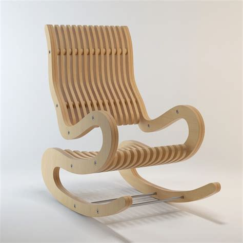 rocking chair plywood  mm dxf file   axisco