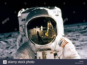 Man On The Moon Buzz Aldrin Walking On The Moon Close up ...