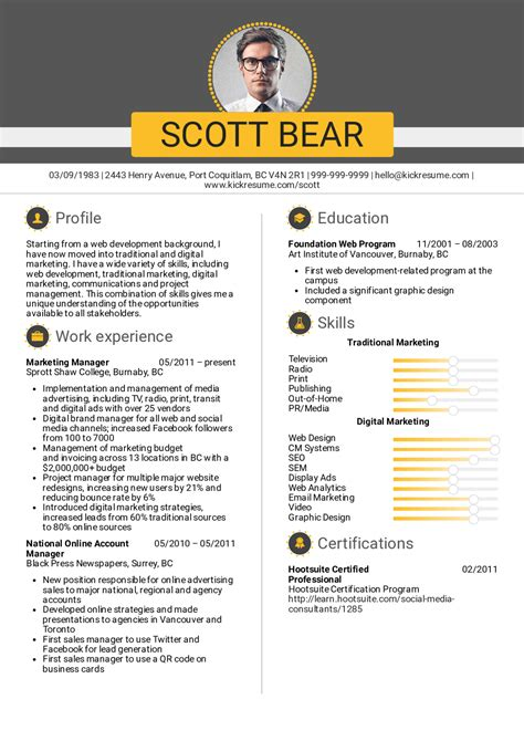Marketing Resumes by Resume Exles By Real Marketing Manager Account