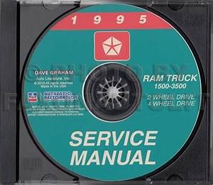 1995 Dodge Ram Truck Shop Manual Cd 1500 2500 3500 Service