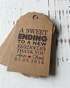 wedding favor tags a sweet ending tags favor tags With wedding sayings for favors