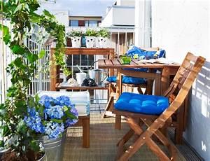 Lösungen Für Kleine Balkone : kleiner balkon sch ne gartenm bel ideen planungswelten ~ Bigdaddyawards.com Haus und Dekorationen