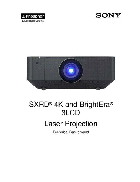 sony vpl 02 sxrd front projector training manual service