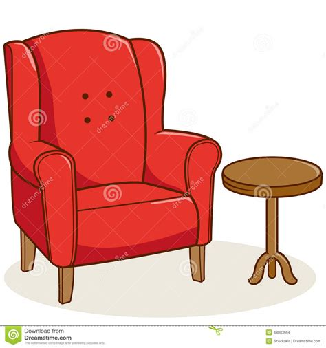 Armchair Side Table by Armchair And Side Table Stock Vector Image 48803664