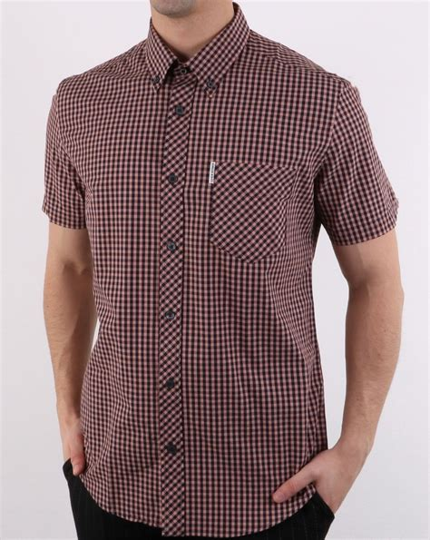 Ben Shirt ben sherman gingham sleeve shirt orange 80s casual