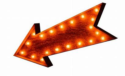 Marquee Clipart Arrow Lighted Accessories Lights Sign