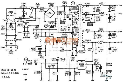 Dell Laptop Power Supply Wiring Diagram by The Power Supply Circuit Diagram Of Dell Vi 1428 Type Svga