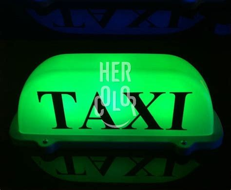 New Led Taxi Cab Top Sign Light Lamp Roof Magnetic Green