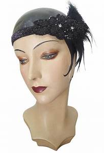 Art Deco Haus : black luxe ostrich art deco vintage style wedding headband ~ Watch28wear.com Haus und Dekorationen
