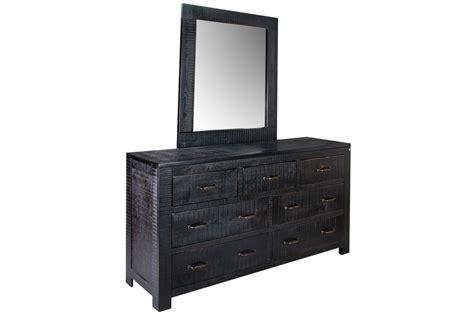 Black Dresser + Mirror At Gardner-white