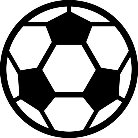 Clip Soccer Football Clip Image Black And White