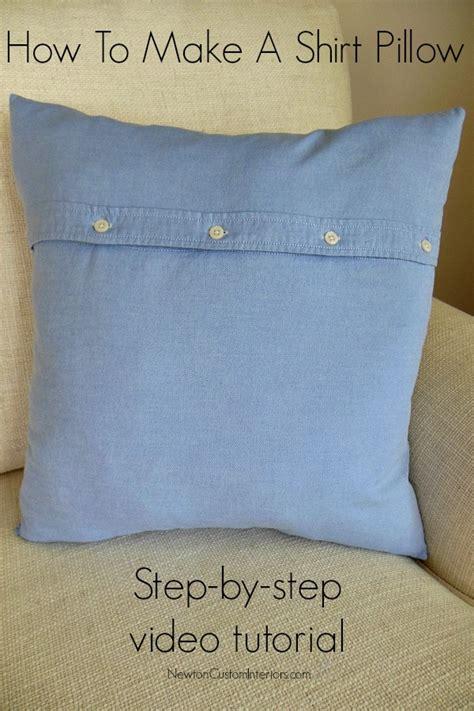 how to make pillows how to make a shirt pillow newton custom interiors