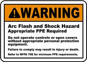 warning arc flash shock hazard label j5535 by With arc flash meaning