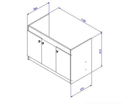 meuble cuisine dimension meuble sous vier liberty en 2 ou 3 portes aquarine