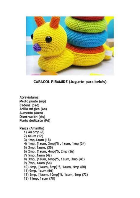 patr 243 n gratis amigurumi de juguete para bebe caracol amigurumis y m 225 s