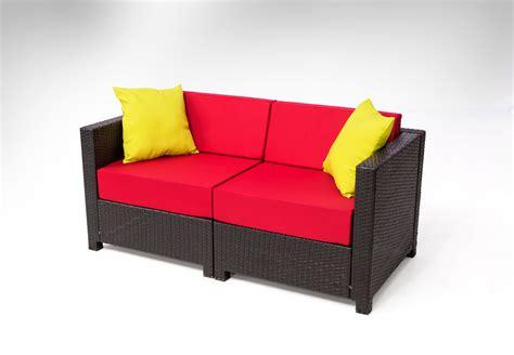 Black Wicker Loveseat by 0mcombo 12 Pcs Black Wicker Patio Sectional Indoor Sofa