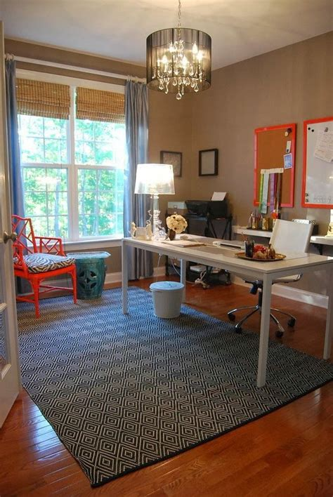rug placement  p home office pinterest home
