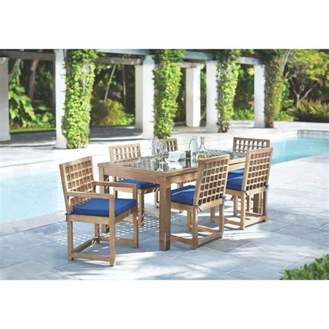 martha stewart living mallorca swivel patio dining chairs