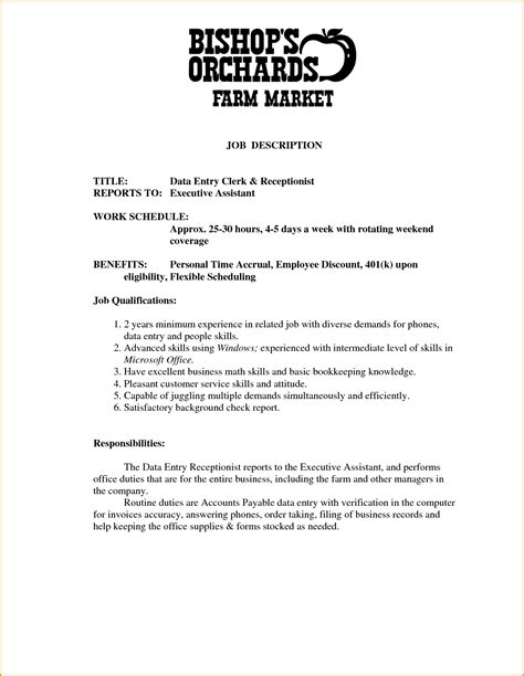 front desk receptionist job description for resume resume front desk receptionist sle resume resume daily