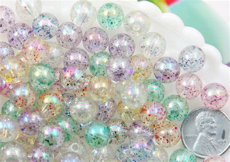 glitter beads mm transparent glitter acrylic
