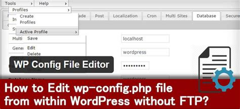 How To Edit Wp-config.php File From Within Wordpress