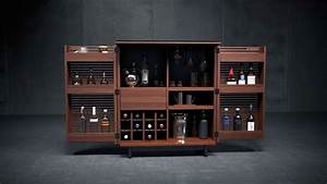 entertain in style with the corridor home bar from bdi With home bar furniture malta
