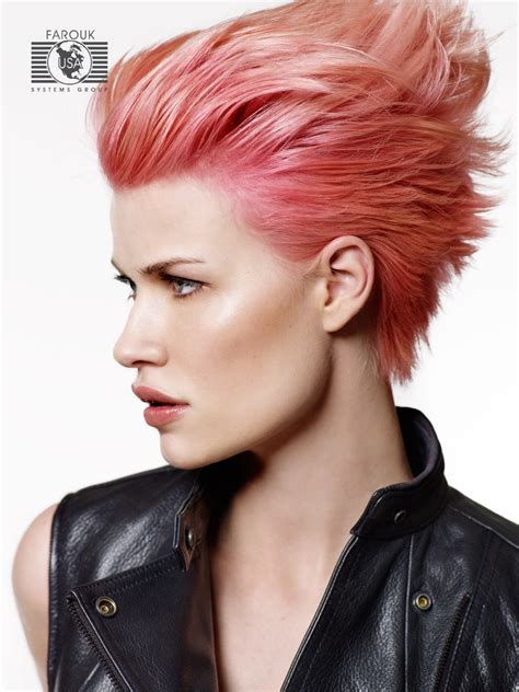 A With Hair by Hair With A Color Worn Punky Or With The Hair