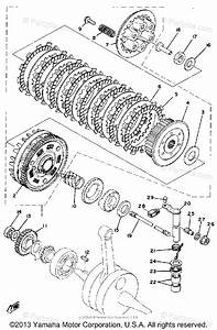 Yamaha Motorcycle 1980 Oem Parts Diagram For Clutch
