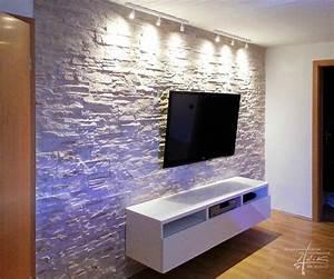 Steinwand Wohnzimmer Tv : wohnzimmer ideen steinwand ~ Bigdaddyawards.com Haus und Dekorationen