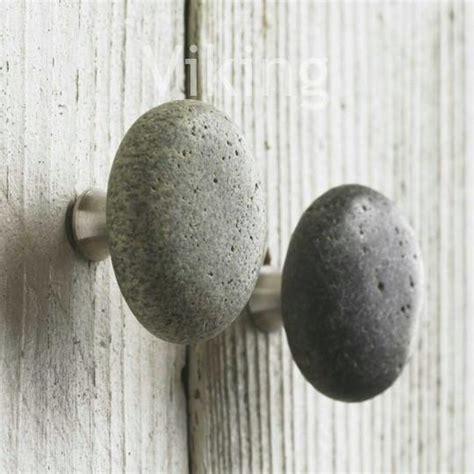 unique river rock cabinet door knob handle