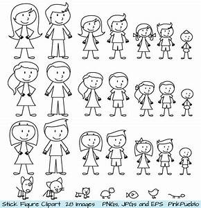 Stick Figure Clipart Clip Art Stick People Family by ...