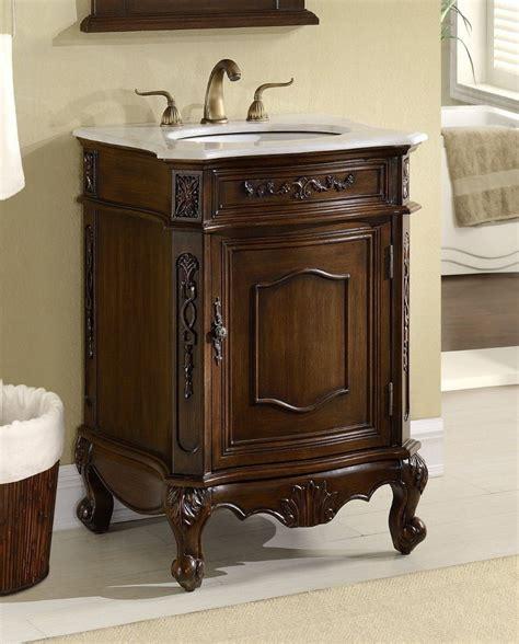 "24"" Debellis Antique Bathroom Sink Vanity Cabinet W White"