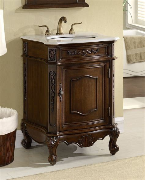 debellis antique bathroom sink vanity cabinet  white