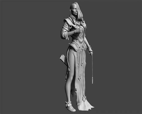 Fantasy Female Character 3d Print 3d Model 3d Printable