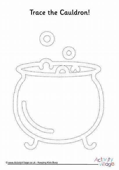 Cauldron Coloring Activities Tracing